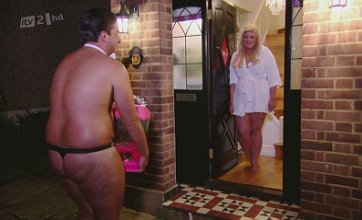 TOWIE's Arg apologises to Gemma wearing a thong and bow tie