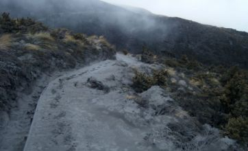Lord of the Rings park left covered in volcanic ash