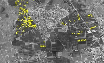 Satellite images reveal extent of Syria bombardment in Aleppo