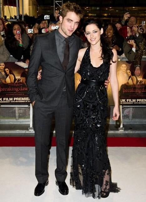 Robert Pattinson, Kristen Stewart, he Twilight Saga: Breaking Dawn Part 1 premiere
