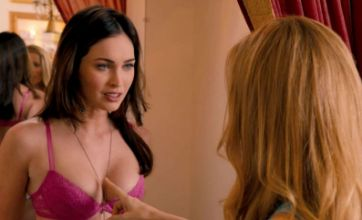 Megan Fox strips off to reveal her bra and knickers in This is 40 trailer