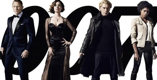 Daniel Craig, Berenice Marlohe, Javier Bardem and Naomie Harris appear on the new Skyfall poster