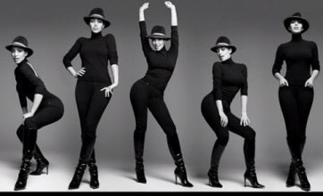 Kim Kardashian channels Beyonce in black and white photoshoot