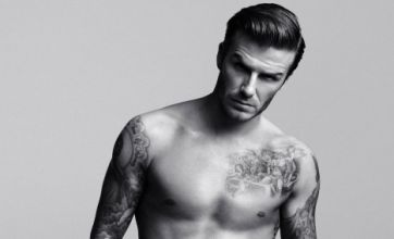 David Beckham smoulders as he strips for sexy H&M underwear ad