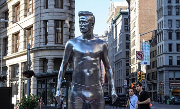 David Beckham gets silver statue in New York as H&M campaign continues