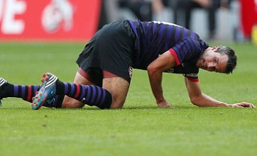 Robin van Persie signs off at Arsenal by puzzling team-mates with new ball trick