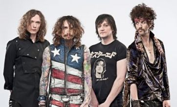 The Darkness kiss and make up: We'll remind people of the magic of rock