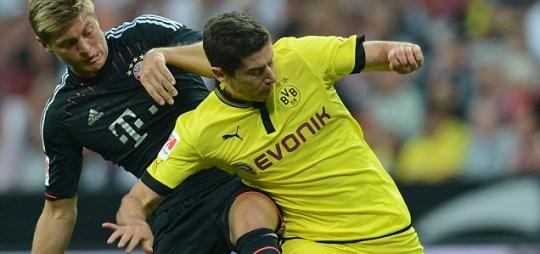 Dortmund's Polish striker Robert Lewandowski