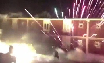 AIK Stockholm fans stop Euro rivals from sleeping with firework display