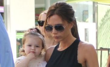 Victoria Beckham steps out with little Harper following affair claims