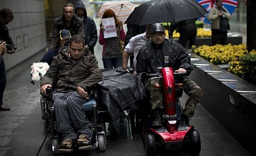 Protesters show anger at Paralympic sponsor over disability benefit work