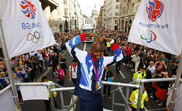 Thousands line capital's streets for London 2012 victory parade