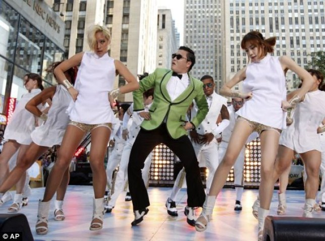 """South Korean rapper PSY performs his massive K-pop hit """"Gangnam Style"""" live on NBC's """"Today"""" show in New York. His """"Gangnam Style"""" video has more than 200 million YouTube views and counting, and it's easy to see why. Gangnam is only a small slice of Seoul, but it inspires a complicated mixture of desire, envy and bitterness. It's also the spark for PSY's catchy, world-conquering song."""