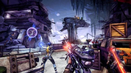 Borderlands 2 (360) - fighting with friends
