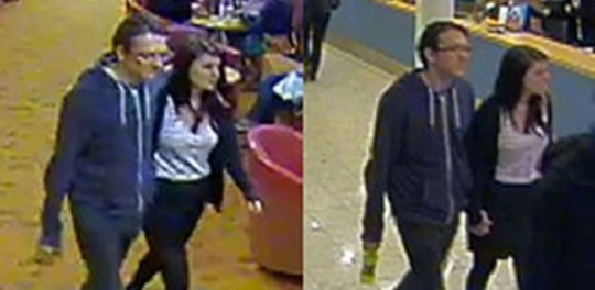 Megan Stammers and Jeremy Forrest CCTV ferry photo