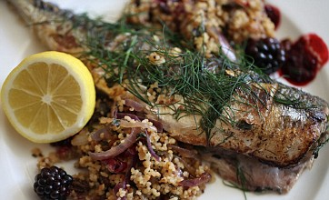 Blackberries and mackerel with couscous: Midweek supper recipe