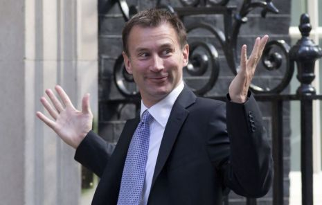 Cabinet reshuffle is a move to the Right; Jeremy Hunt to health is two fingers to the Left