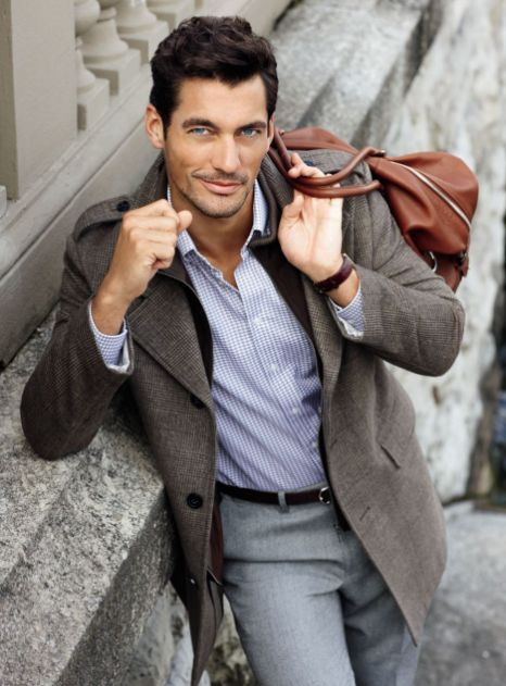 230cb0cfa Sexy David Gandy suits up to model M&S' winter menswear collection ...
