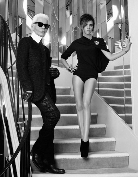 Victoria Beckham, Karl Lagerfeld