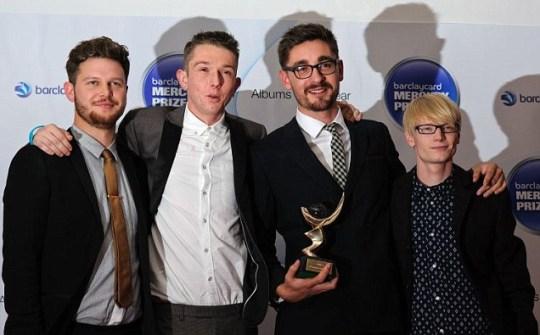 Joe Newman, Gwil Sainsbury, Thom Green, Gus Unger-Hamilton of Alt J win the Barclaycard Mercury Prize