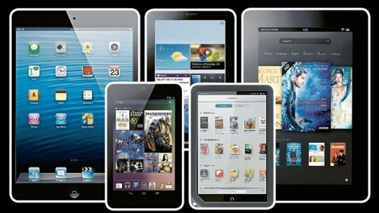 the iPad Mini, Google's Asus Nexus 7, Samsung's Galaxy Tab 2 7.0, the Nook HD and the Kindle Fire HD