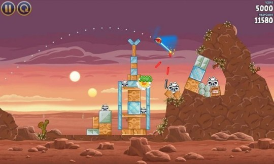 Angry Birds Star Wars (iPhone) – use the catapult, Luke