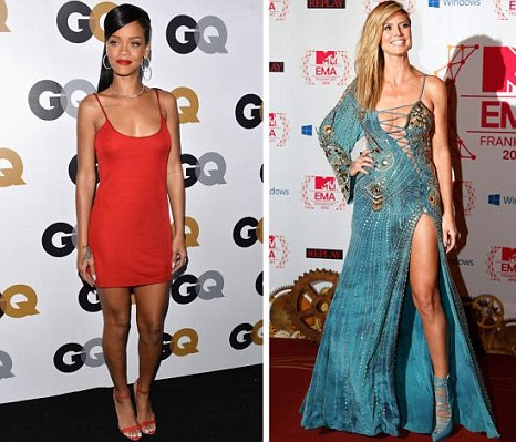 Rihanna and Heidi Klum