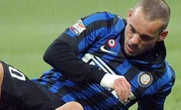 Wesley Sneijder left in the dark at Inter at Manchester City eye £15million bid