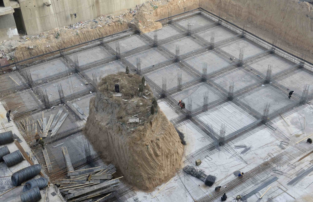 ancestral tomb on building site in Taiyuan, Shanxi province