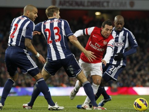 Arsene Wenger admits Santi Cazorla was fortunate to win contentious penalty against West Brom