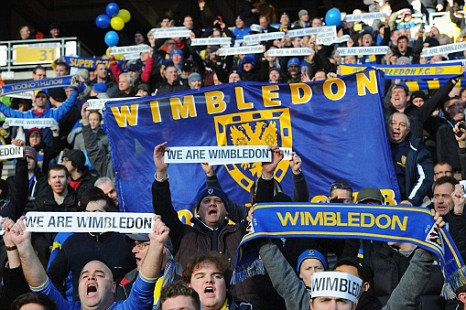Hasil gambar untuk MK Dons vs AFC Wimbledon: What the grudge match means to fans