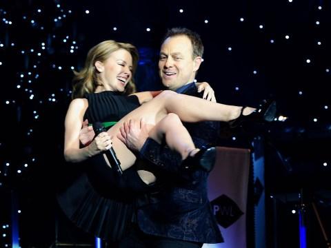 Kylie Minogue and Jason Donovan at Hit Factory Live
