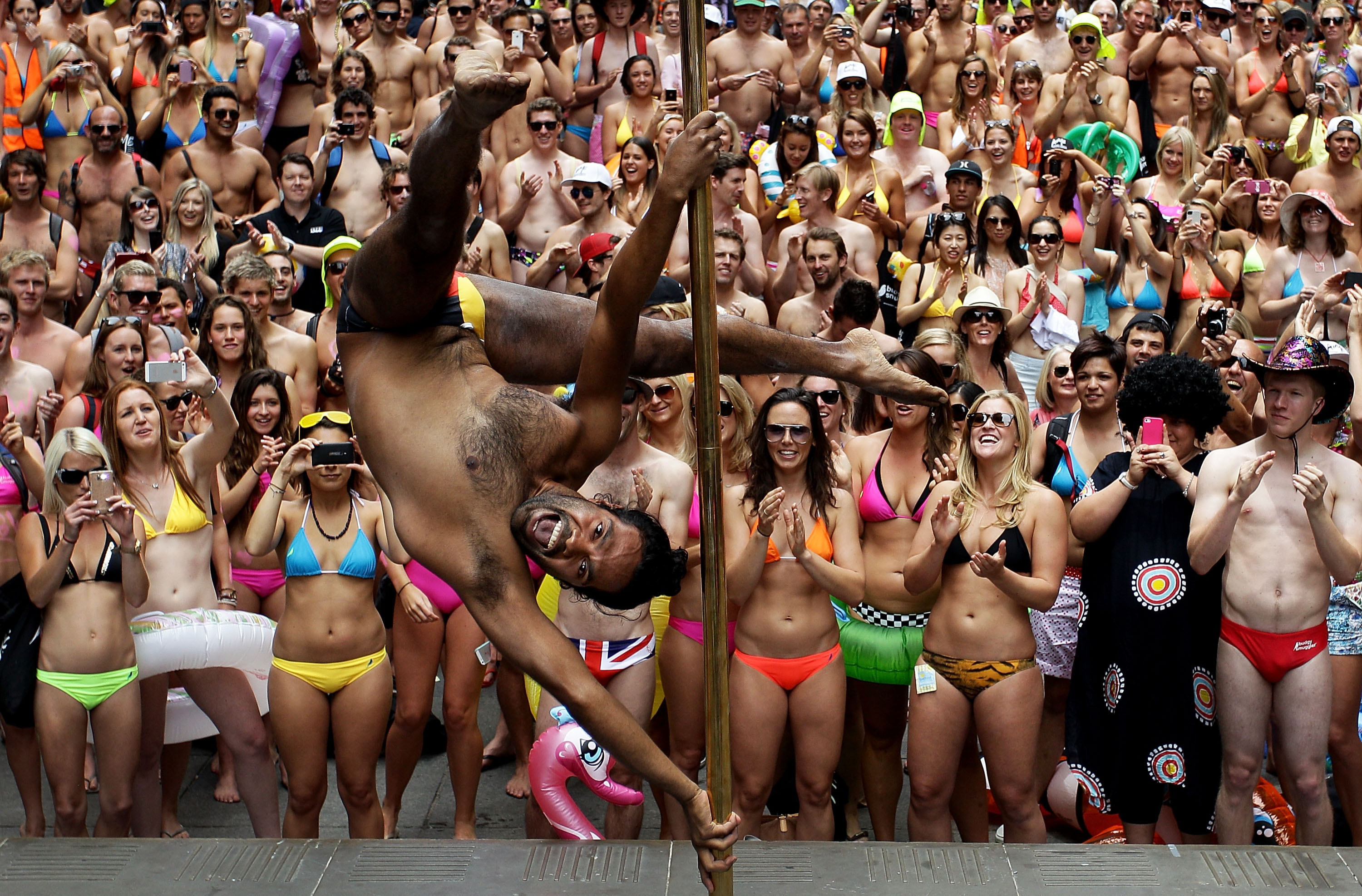 AIME Strut the Streets in an attempt to break the Guinness record for the world's largest swimwear parade 2012