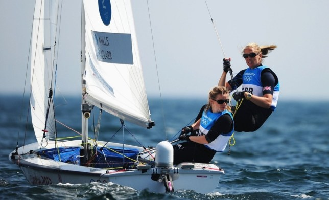 All sail: Hannah Mills, left, who won silver with Clark in London, has already taken to the waters in Rio as they build towards the 2016 Games (Picture: Getty)