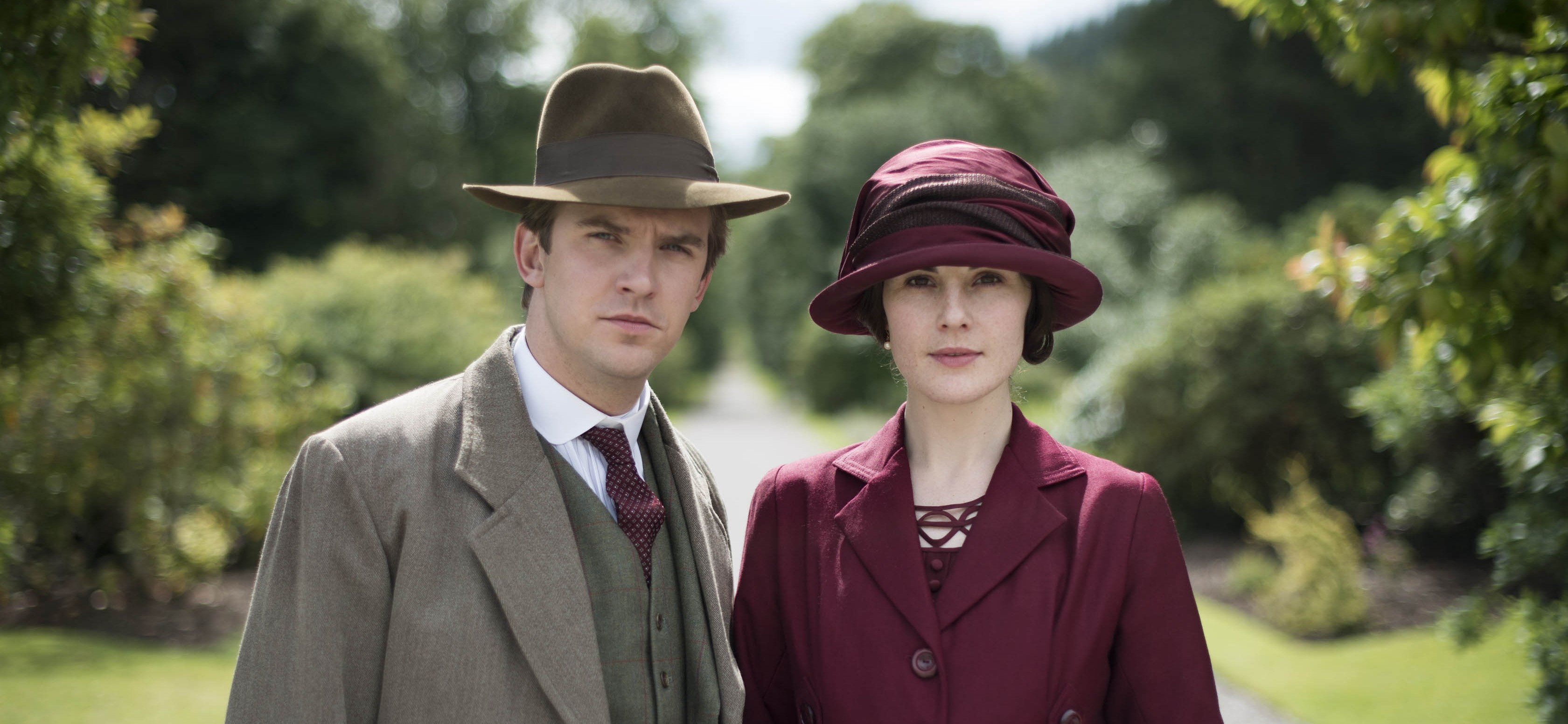 Lady Mary and Matthew Crawley in Downton Abbey
