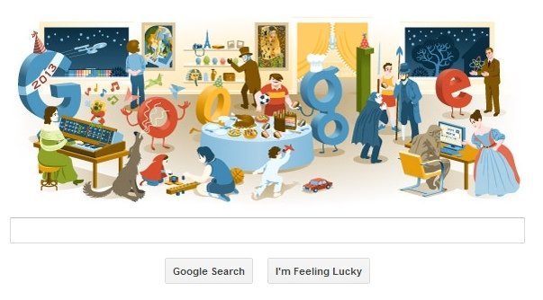 Google's end-of-year doodle