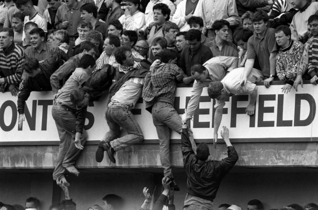 File photo dated 15/04/1989 of Liverpool fans trying to escape severe overcrowding during the FA Cup semi-final football match between Liverpool and Nottingham Forest at Hillsborough. A new police investigation into the Hillsborough disaster was announced by the Home Secretary today. 96 Liverpool supporters died at Sheffield Wednesday's Hillsborough stadium on April 15 1989, where their team were