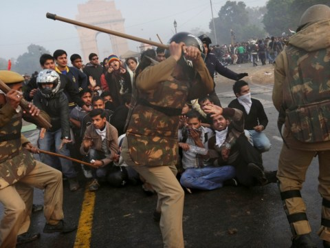 Journalist killed as police use teargas and water cannons to break up gang rape protests