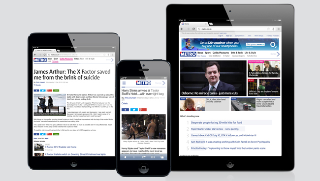 Metro's new website – what's great about newspapers, but mobile