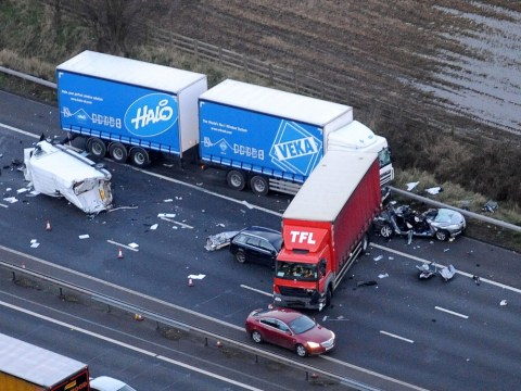 One killed and ten injured in Cheshire M6 pile-up