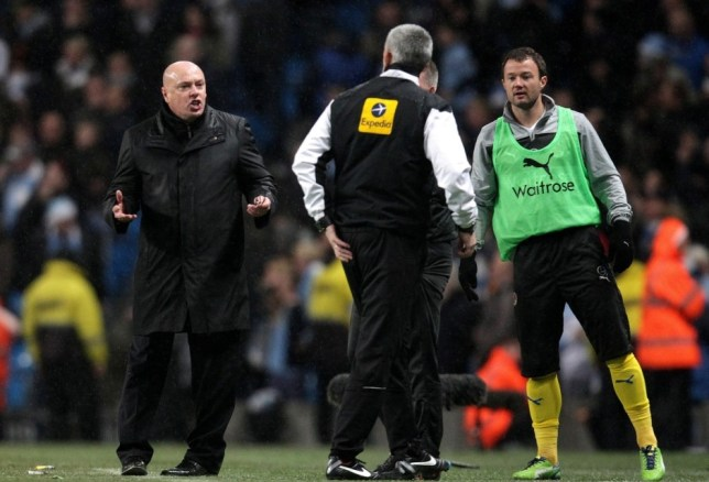 Brian McDermott (left) was Royally unimpressed that Gareth Barry's winner was allowed to stand (Picture: Reuters/Action Images)