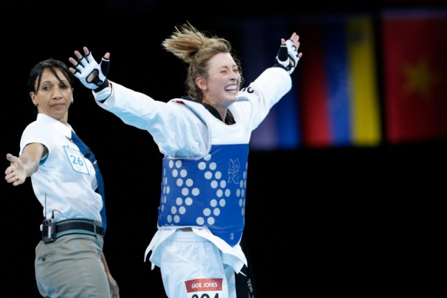 Jade Jones' Olympic celebrations were voted as the highlight of London 2012 (Picture: EPA)
