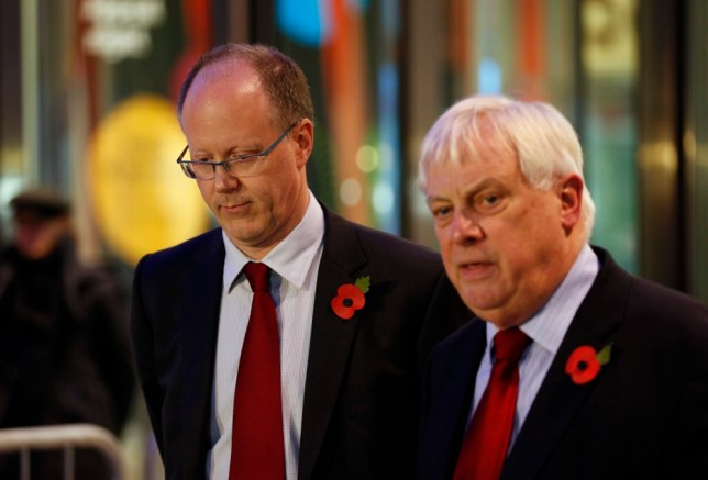 Former director-general George Entwistle (left) was paid £450,000 after 54 days of work. Lord Patten (right) says this is 'justifiable' (Picture: PA)
