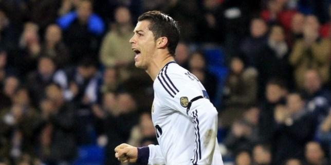 Real Madrid's Portuguese striker Cristiano Ronaldo