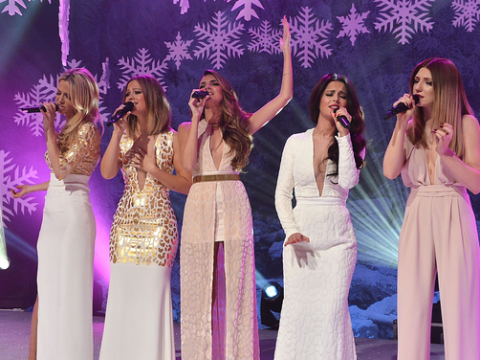 e83be23d106 Girls Aloud sparkle on Top Of The Pops Christmas special