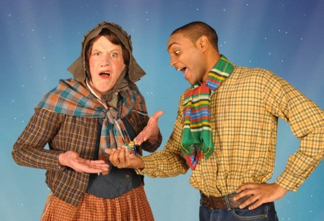 Magic: Michael Bertenshaw as Mrs Trott and Jorell Coiffic-Kamall as Jack