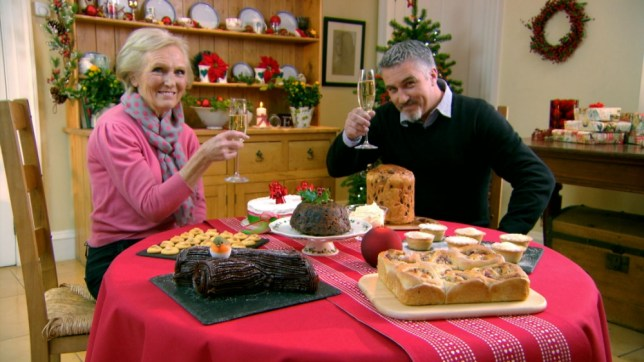 The Great British Bake Off goes festive this year (Picture: BBC)