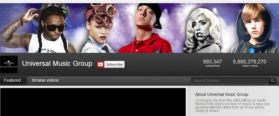 Universal Music Group YouTube channel