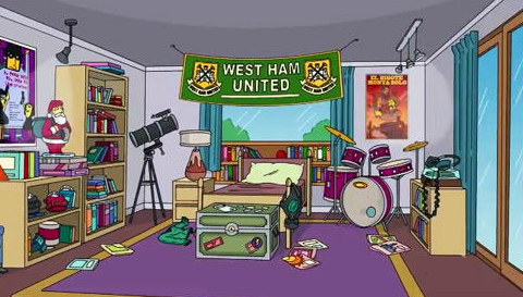 West Ham make shock appearance in The Simpsons