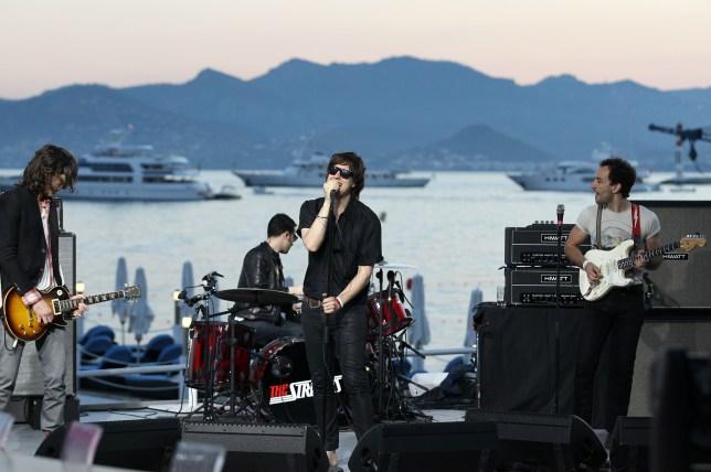 US band The Strokes' (From L) Nick Valensi, Fabrizio Moretti, Julian Casablancas, and Albert Hammond Jr,